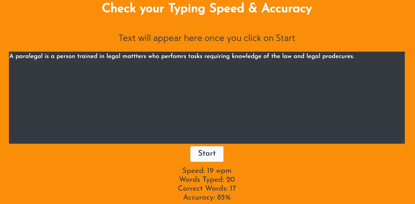 typing speed calculator