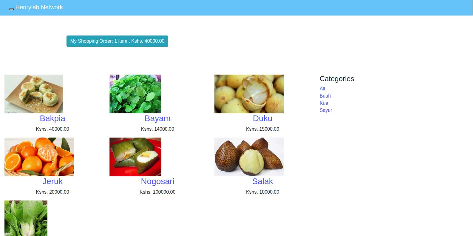 E-commerce site using Django Framework