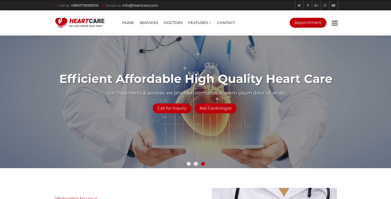 Heart Care System using Django Framework