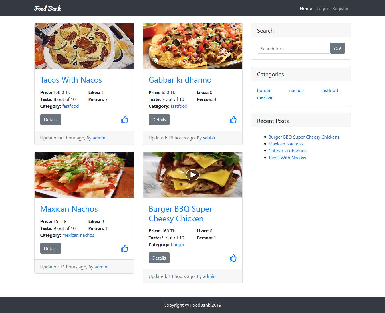 Food Bank Management System in Django Framework