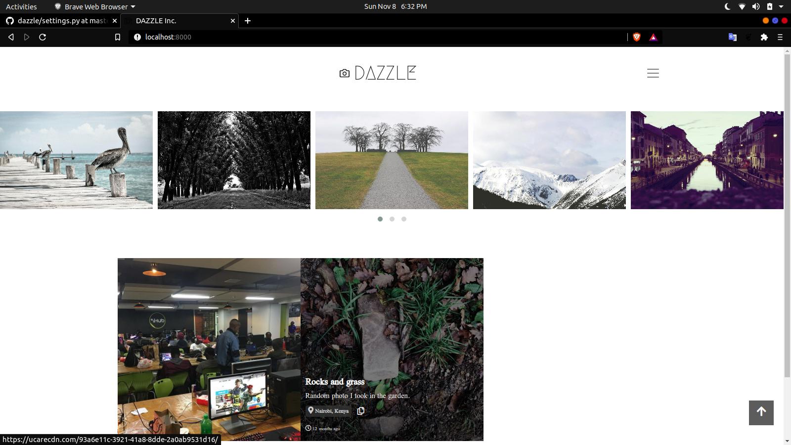 Photo gallery web application using Django