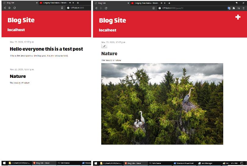 Blog Application using Django Framework