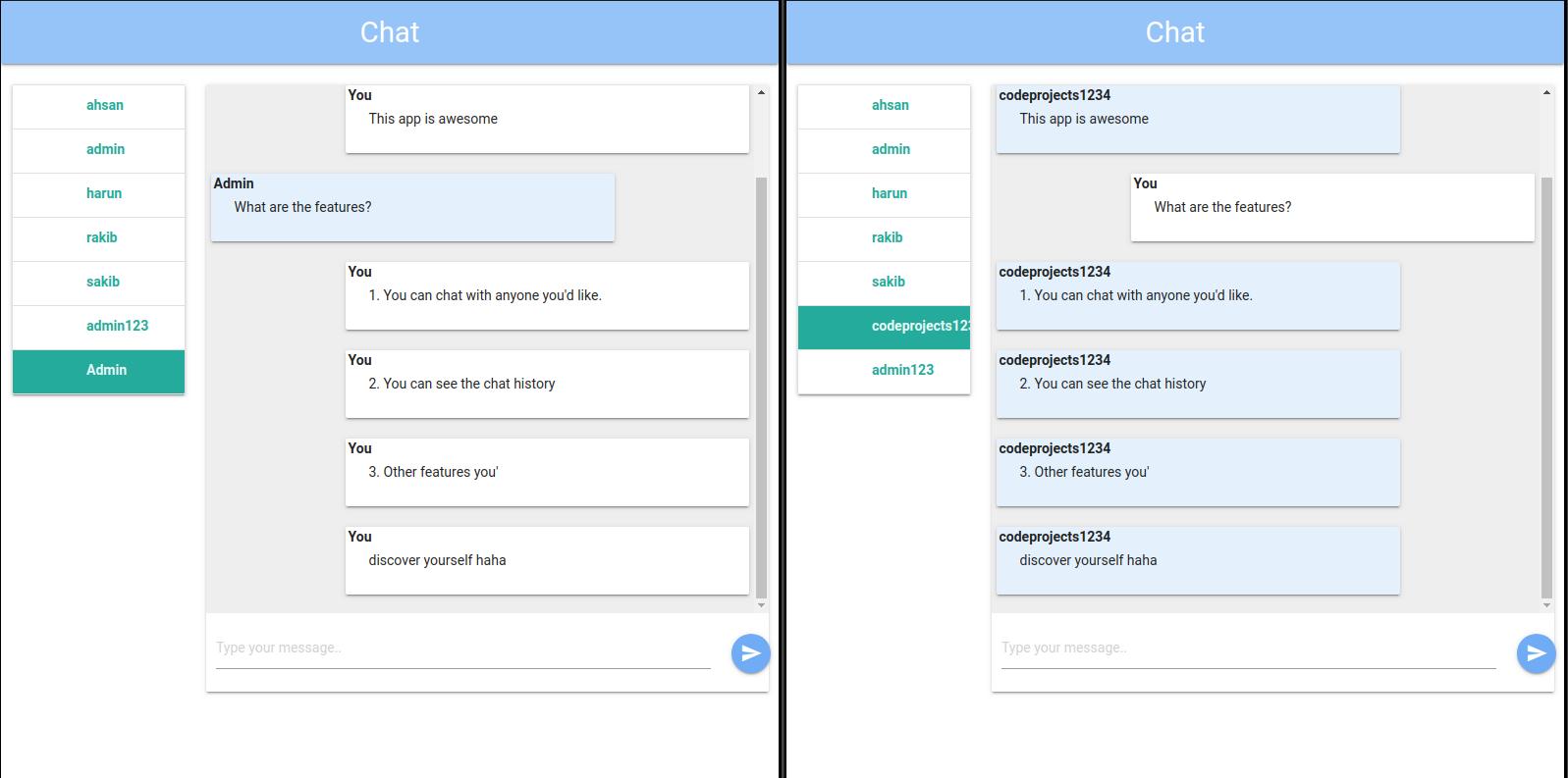 Simple Chat App using Django REST Framework