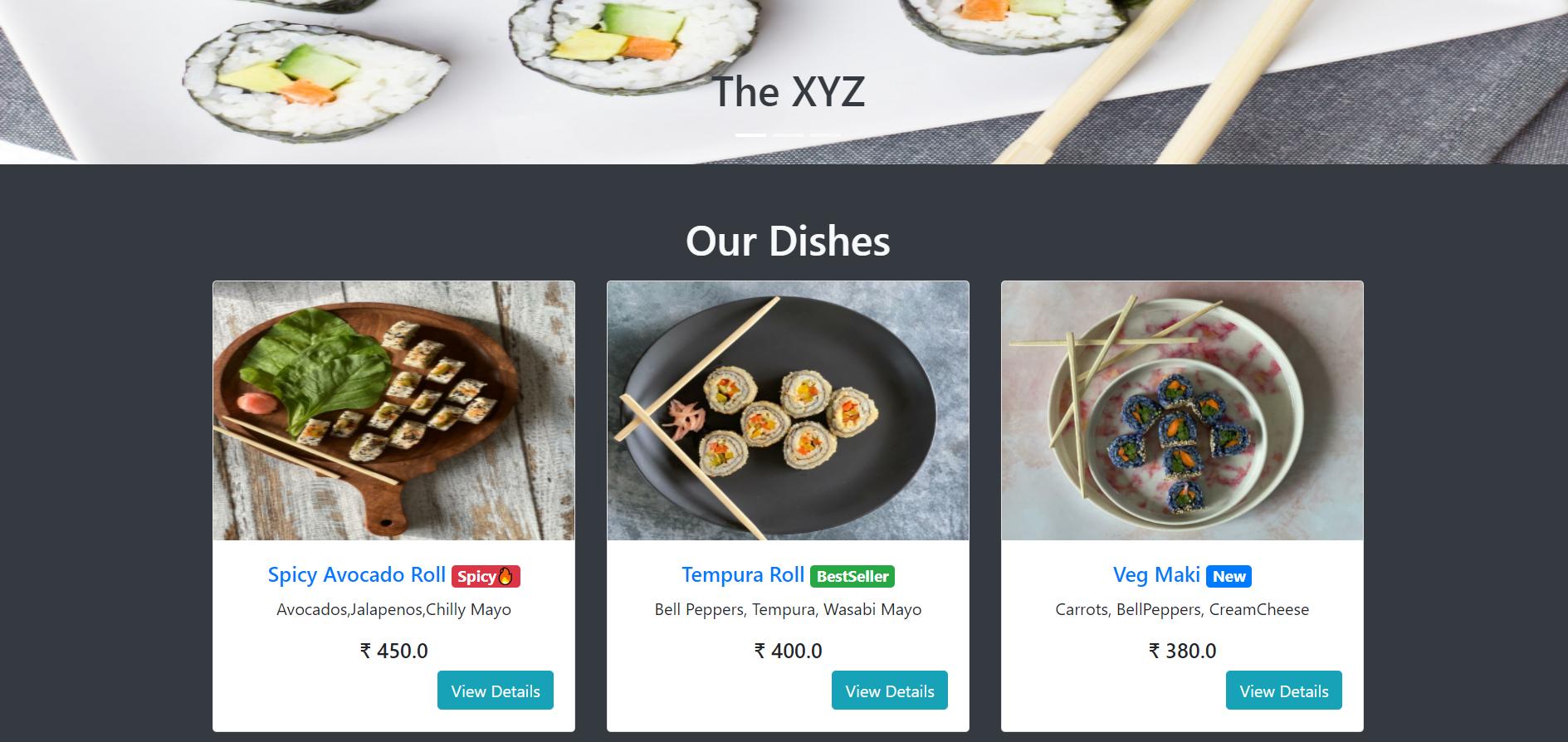 Online Food Order System Using Django