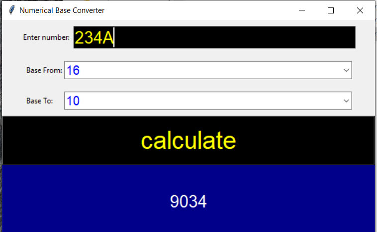 numerical base converter