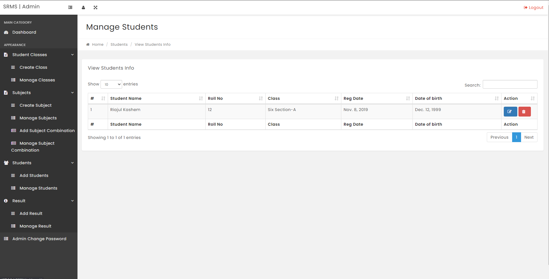CODE SOURCE  Système de gestion des résultats des étudiants utilisant Django