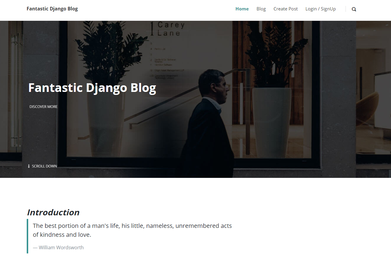 Fantastic Blog App made using Django Framework