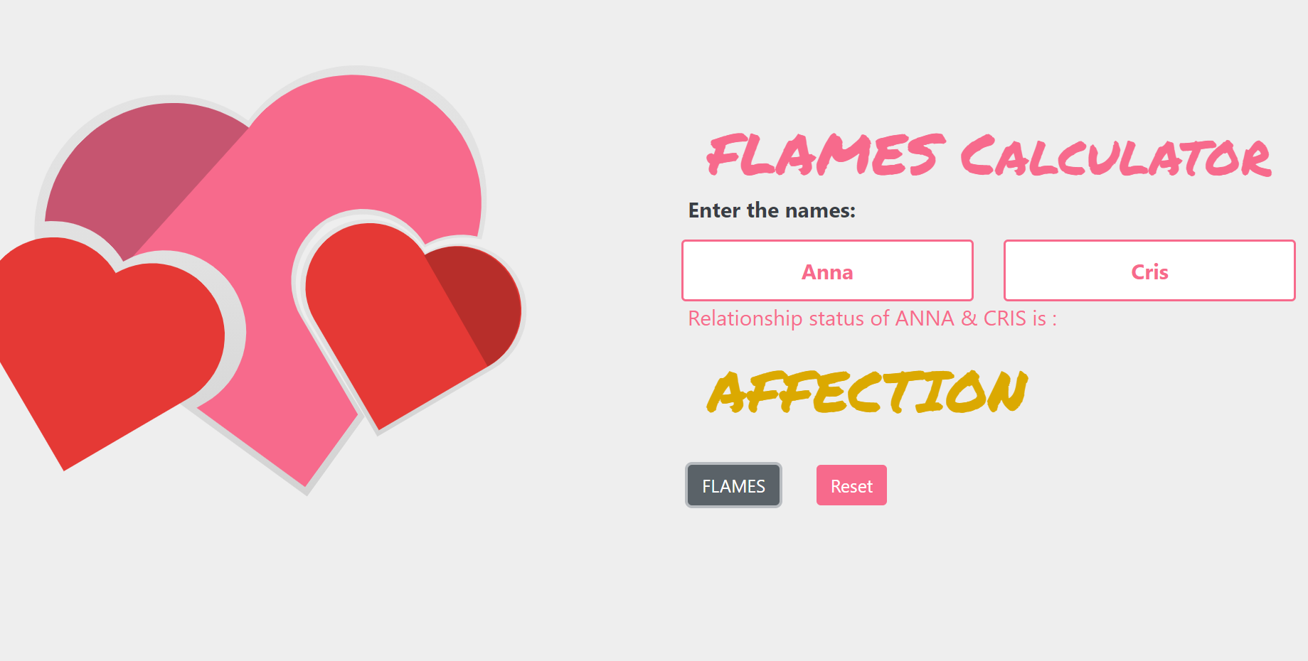flames calculator