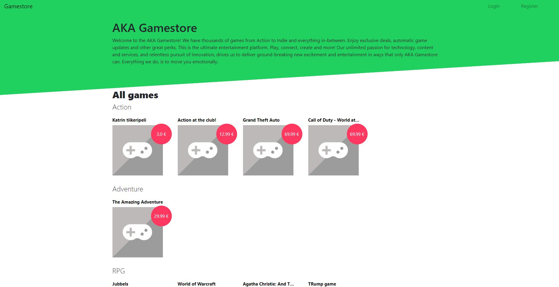 Game Store E-commerce using Django