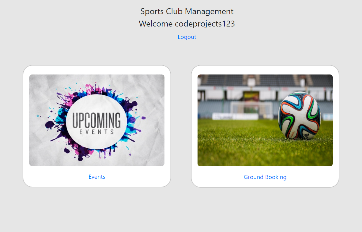 Sports Club Management System in Django