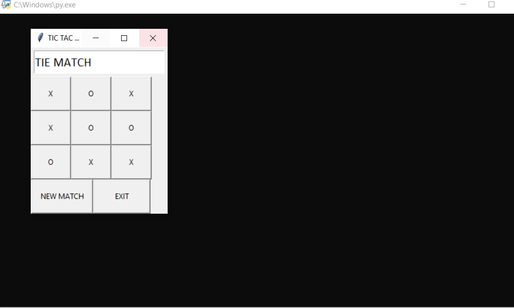 tic tac toe using gui