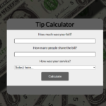Simple Tip Calculator In JavaScript With Source Code