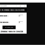 Zodiac Sign Calculator In Python With Source Code
