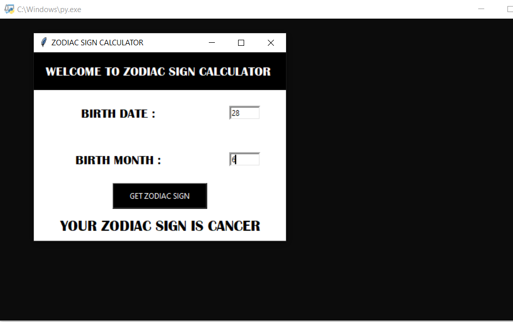 zodiac sign calculator