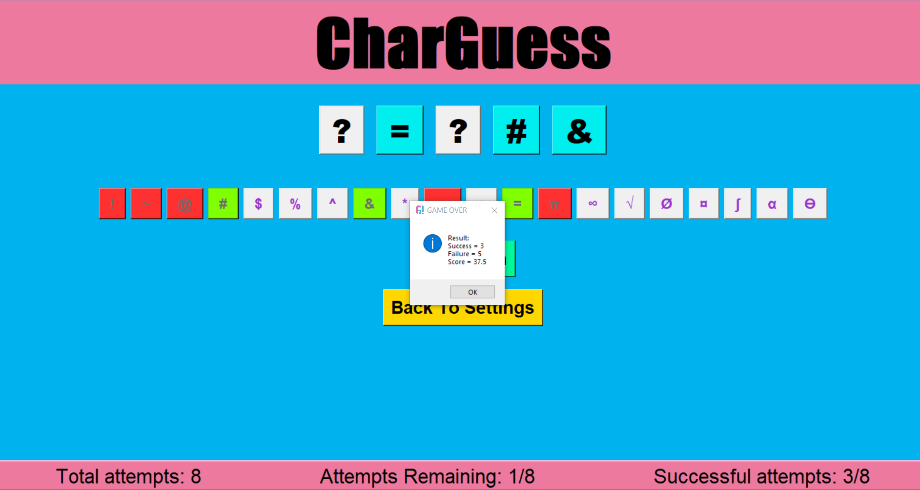 char guess game