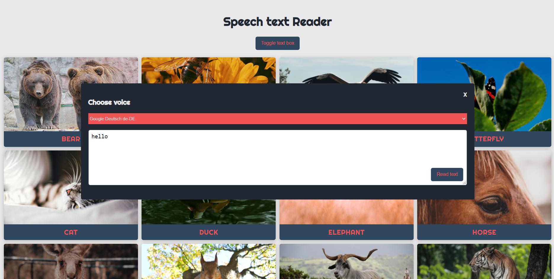 speech text reader