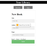 Library App In JavaScript With Source Code