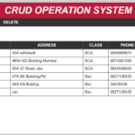 crud operation system