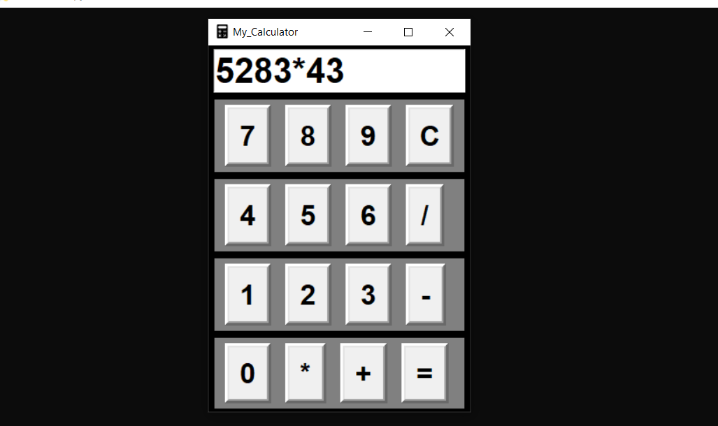 simple gui calculator