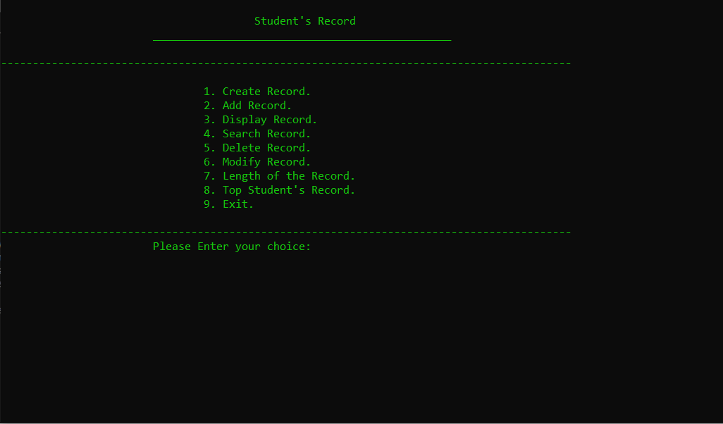 student record system