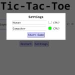 tictactoe web game
