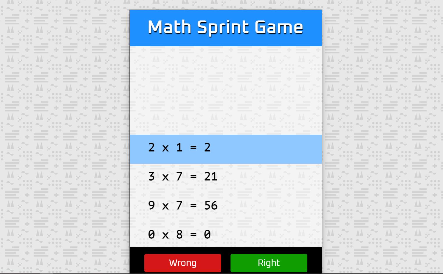 math sprint game