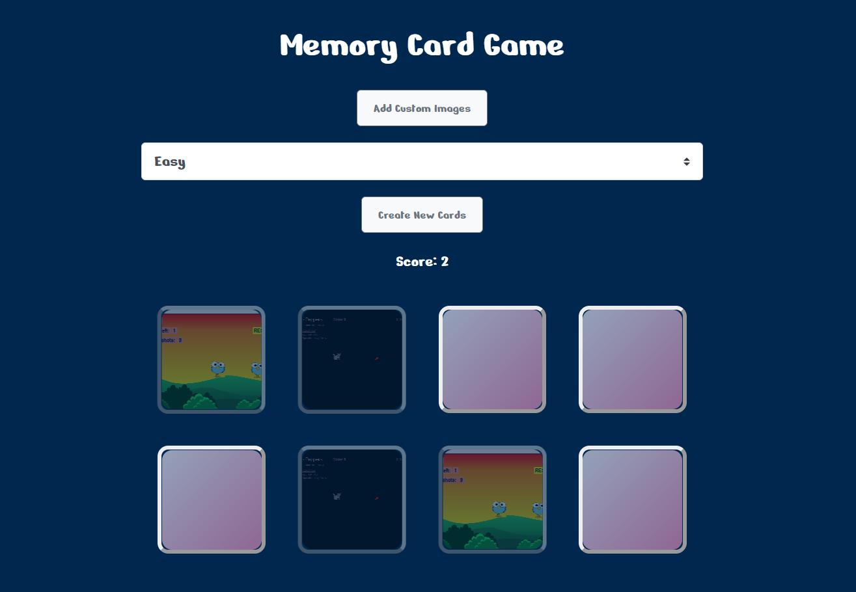 simple memory card game
